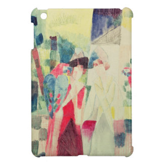 Two Women and a Man with Parrots, 20th century iPad Mini Cover