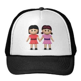 Two Women Holding Hands Emoji Cap