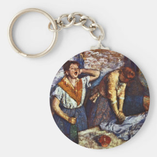 Two Women Ironing By Edgar Degas Keychains
