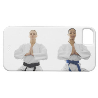 Two women meditating iPhone 5 cover