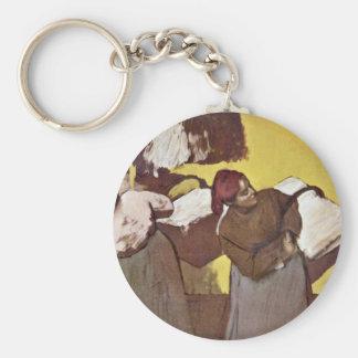Two Women Washing By Edgar Degas Key Chain