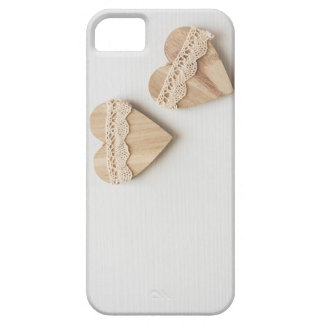 two wooden hearts barely there iPhone 5 case