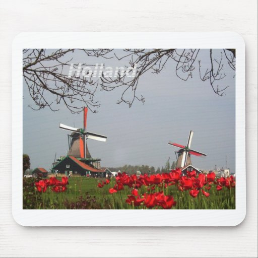 Two-working-windmills-at-Zaanse-Schans-Holland-Ang Mousepad