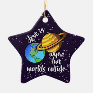 Two Worlds Collide Christmas Ornament