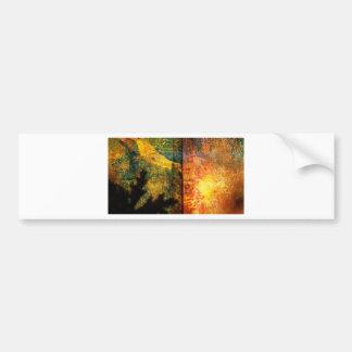 Two worlds meet / Faded text Bumper Sticker