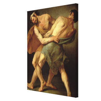 Two Wrestlers Canvas Print