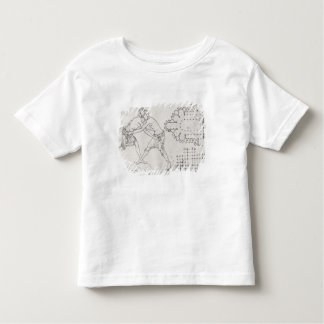 Two wrestlers, plan of a Cistercian church Toddler T-Shirt