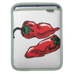Two Wrinkled Red Peppers  Stems Graphic