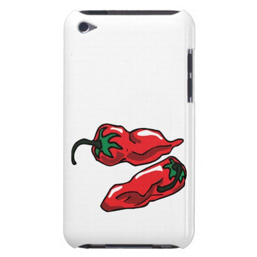 Two Wrinkled Red Peppers  Stems Graphic iPod Touch Cases