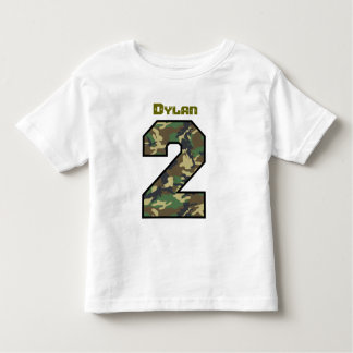 Two Year Old 2nd Birthday Camo Custom Name V028 Toddler T-Shirt