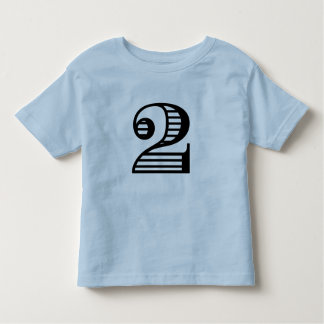 Two Year Old Birthday Number T-Shirt
