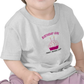 Two Years Old Birthday Cupcake T Shirt