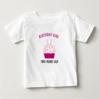 Two Years Old Birthday Cupcake Tee Shirt