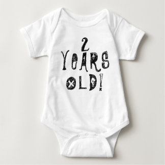 two years old birthday old cute baby skull rock baby bodysuit