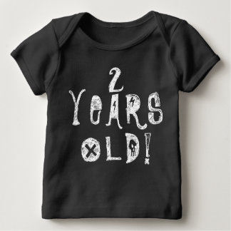 two years old birthday old cute baby skull rock infant T-Shirt