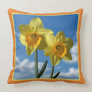 Two yellow Daffodils 2.3 Throw Pillow