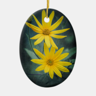 Two yellow flowers of Jerusalem artichoke Christmas Ornament