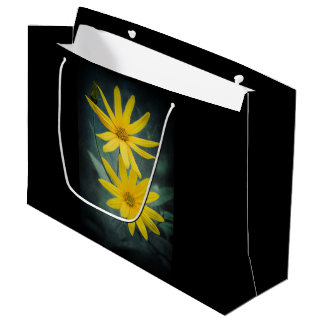 Two yellow flowers of Jerusalem artichoke. Large Gift Bag