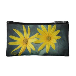 Two yellow flowers of Jerusalem artichoke Makeup Bag