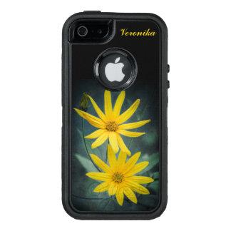 Two yellow flowers of Jerusalem artichoke OtterBox Defender iPhone Case