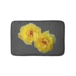 Two Yellow Roses Bath Mat