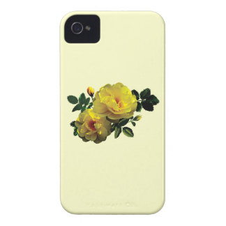 Two Yellow Roses in Sunshine Case-Mate iPhone 4 Cases