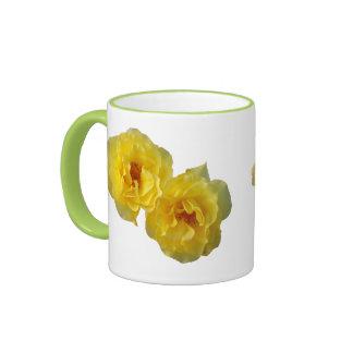 Two Yellow Roses Ringer Mug
