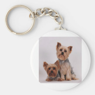 Two Yorkies Key Ring