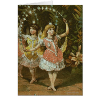 Two young girls perform ballet card