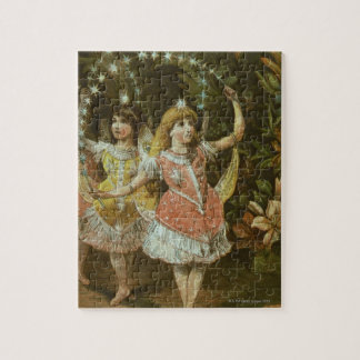 Two young girls perform ballet jigsaw puzzle