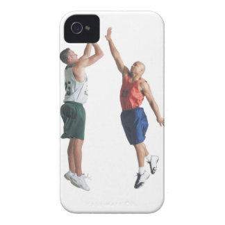 two young men dressed in opposing team Case-Mate iPhone 4 cases