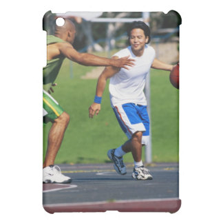 Two young men playing basketball case for the iPad mini