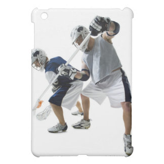 Two young men playing lacrosse cover for the iPad mini
