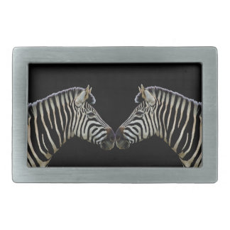 Two Zebras Nose to Nose Belt Buckle