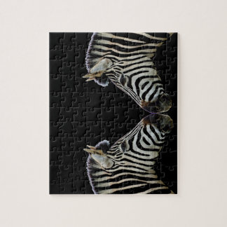 Two Zebras Nose to Nose Jigsaw Puzzle