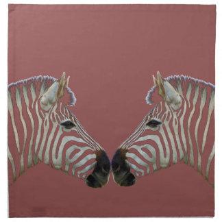 Two Zebras Nose to Nose Napkin