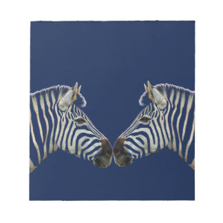 Two Zebras Nose to Nose Notepad