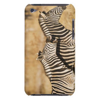 Two zebras standing in grass iPod touch cases