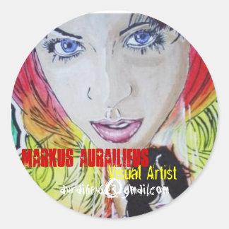 twolove, Markus Aurailieus, Visual Artist, aura... Round Sticker