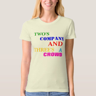 TWO'S  COMPANY T SHIRT