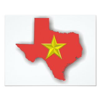 TX a Red State 11 Cm X 14 Cm Invitation Card