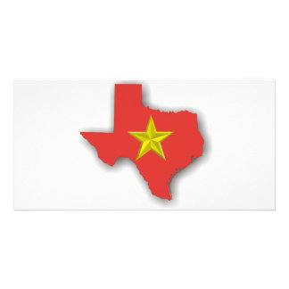 TX a Red State Photo Card Template