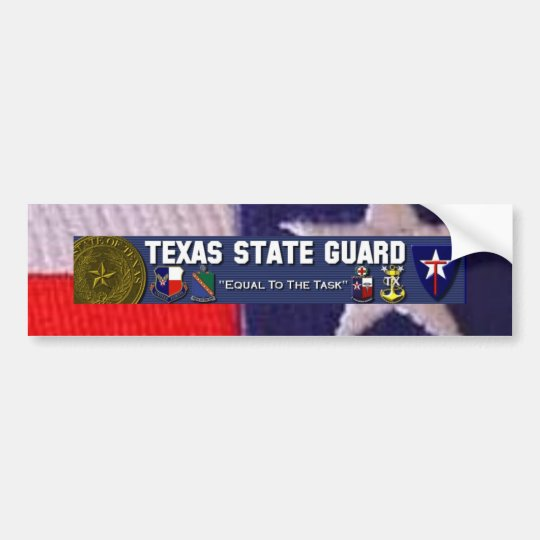 TX flag square, TXSG License plt full Bumper Sticker
