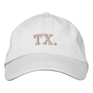 TX Texas baseball hat in blush