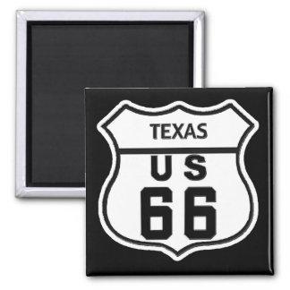 TX US ROUTE 66 MAGNET