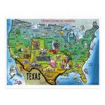 TX USA Map Post Card