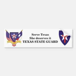 TXSG Serve Texas She deserves it Bumper Sticker
