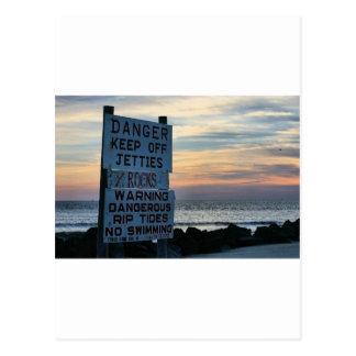 Tybee Beach Savannah, GA Postcard