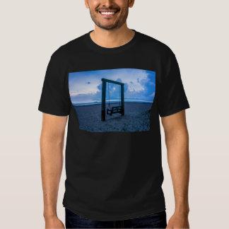 tybee island beach ocean front evening t-shirt