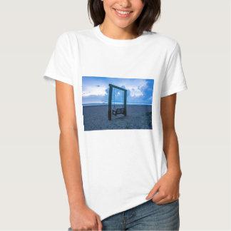 tybee island beach ocean front evening t shirts